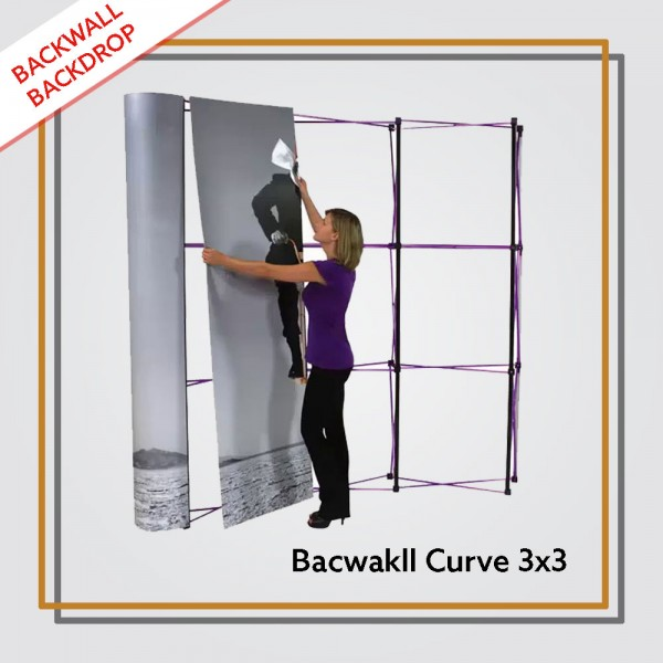 Backwall Portable 3x3 Curve