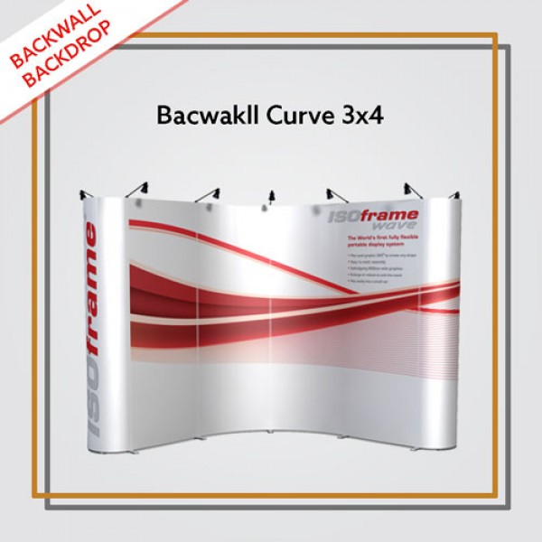 Backwall Portable 3x4 Curve