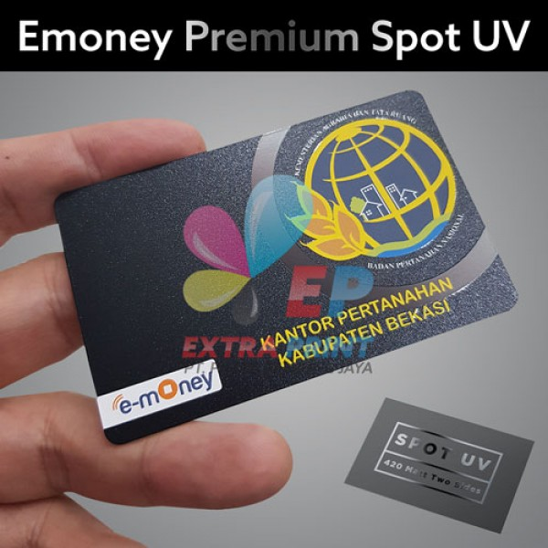 E-money Spot UV 1 Sisi