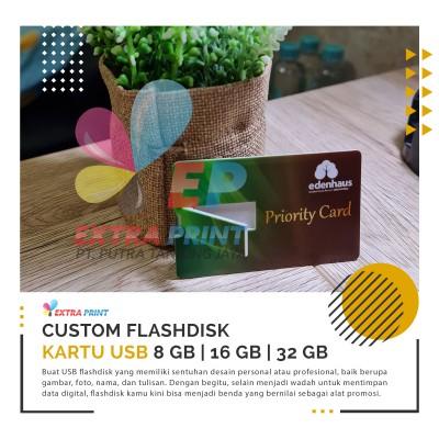 Cetak USB / FLASHDISK Kartu Custom Satuan