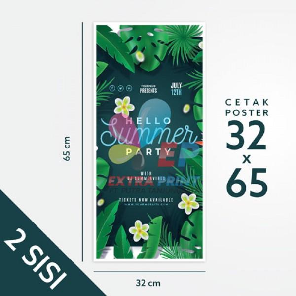 Print Poster 32x65 cm 2 Sisi